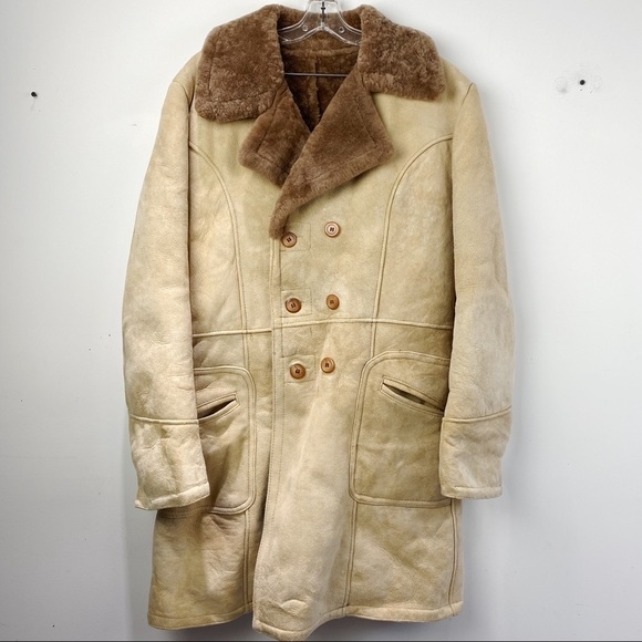 Cosa Nova Genuine shearling fur peacoat